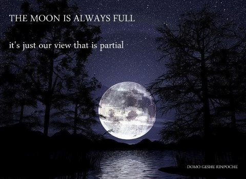 Full moon-partial view
