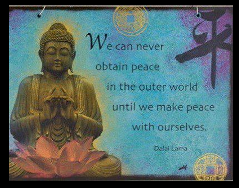 Buddha-We Can Never Obtain Peace...