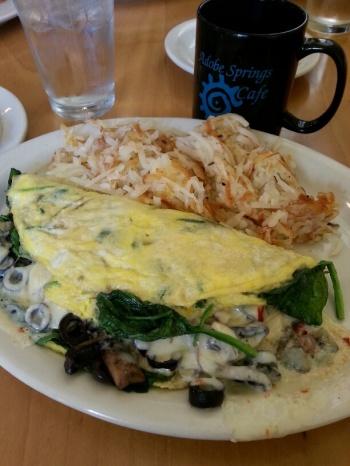 Adobe springs omelette