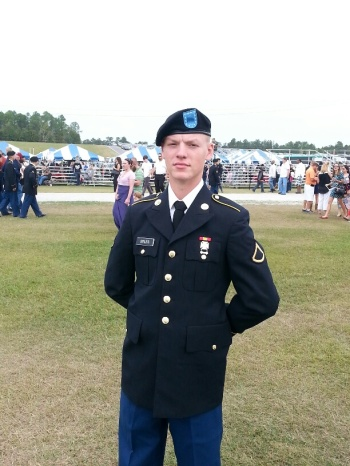 Patrick in dress blues-Graduation