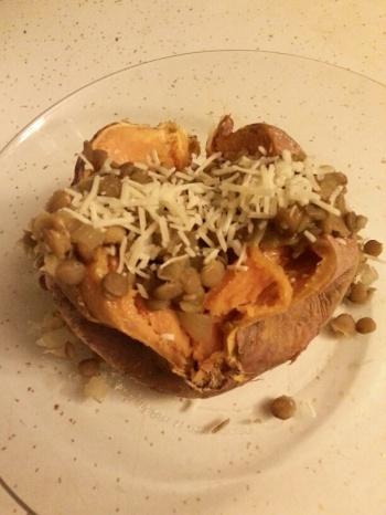 Lentils and Sweet Potato