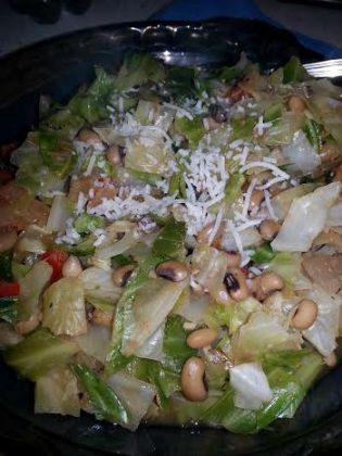 cabbage and black eyed peas