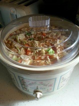 WW veggie soup in crock pot