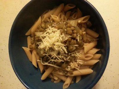 Lentils and pasta