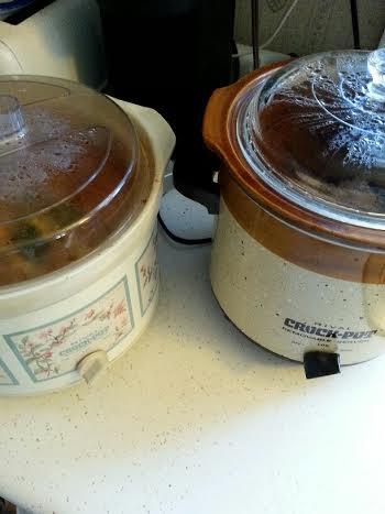 Two crockpots