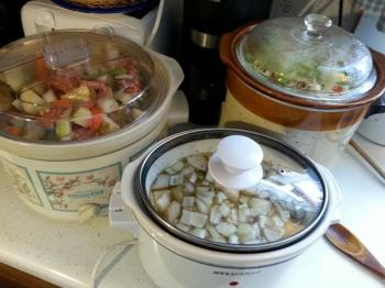 Three crock pots