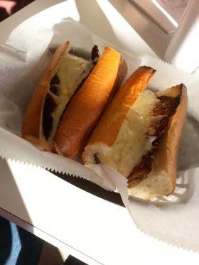 Eggpland parmasan sandwich