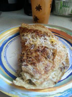 Lentil omelette