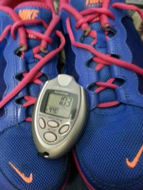 Sneakers and Pedometer